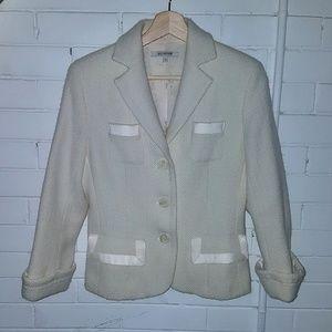 Holt Renfrew Cream Tweed Blazer